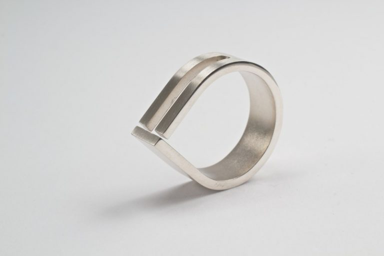Druppelring in zilver 8mm