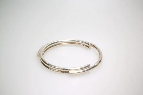 Draaiarmband in zilver